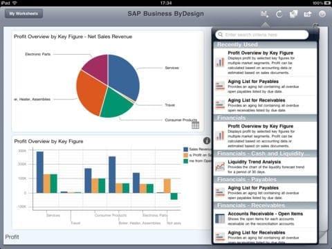 SAP Business ByDesign Dashboard App Figure 2