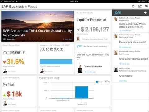 SAP Business in Focus App Figure 2