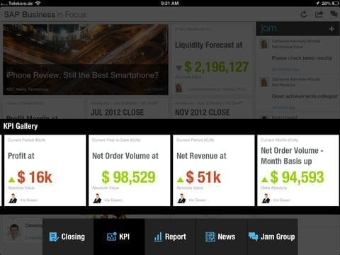 SAP Business in Focus App Figure 5