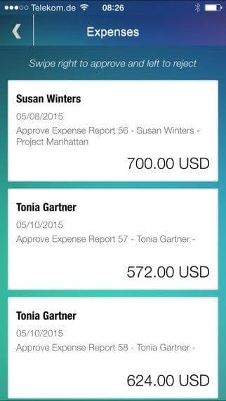 SAP Manager Approvals App Fig. 3