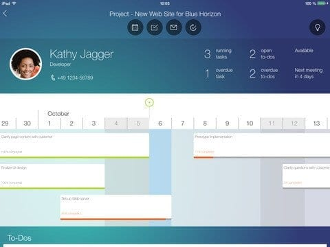 SAP Project Cockpit App Figure 4