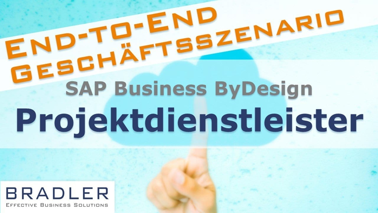 SAP Business ByDesign for project service providers